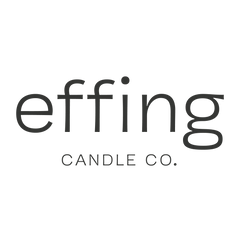 Effing Candle Co. hand poured wooden wick candles made in Kansas City