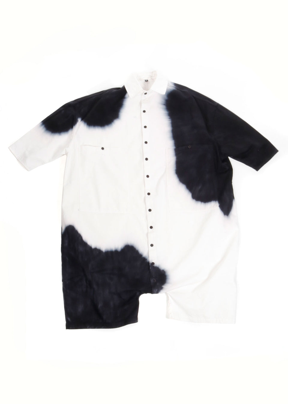 Big Button Up One Piece Cow - 69