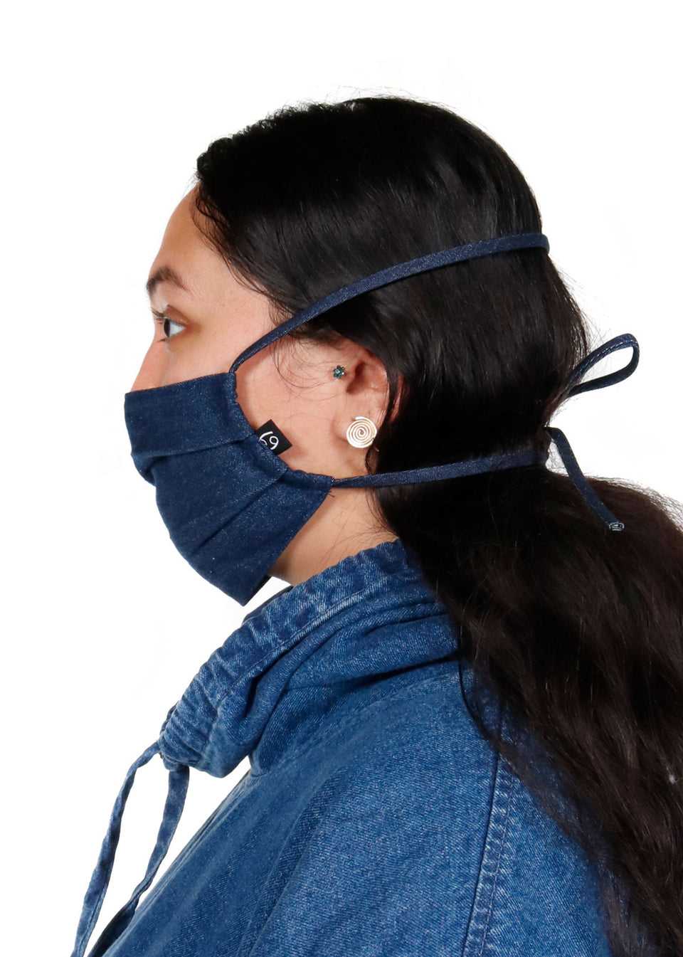 Denim Tie Mask - 69