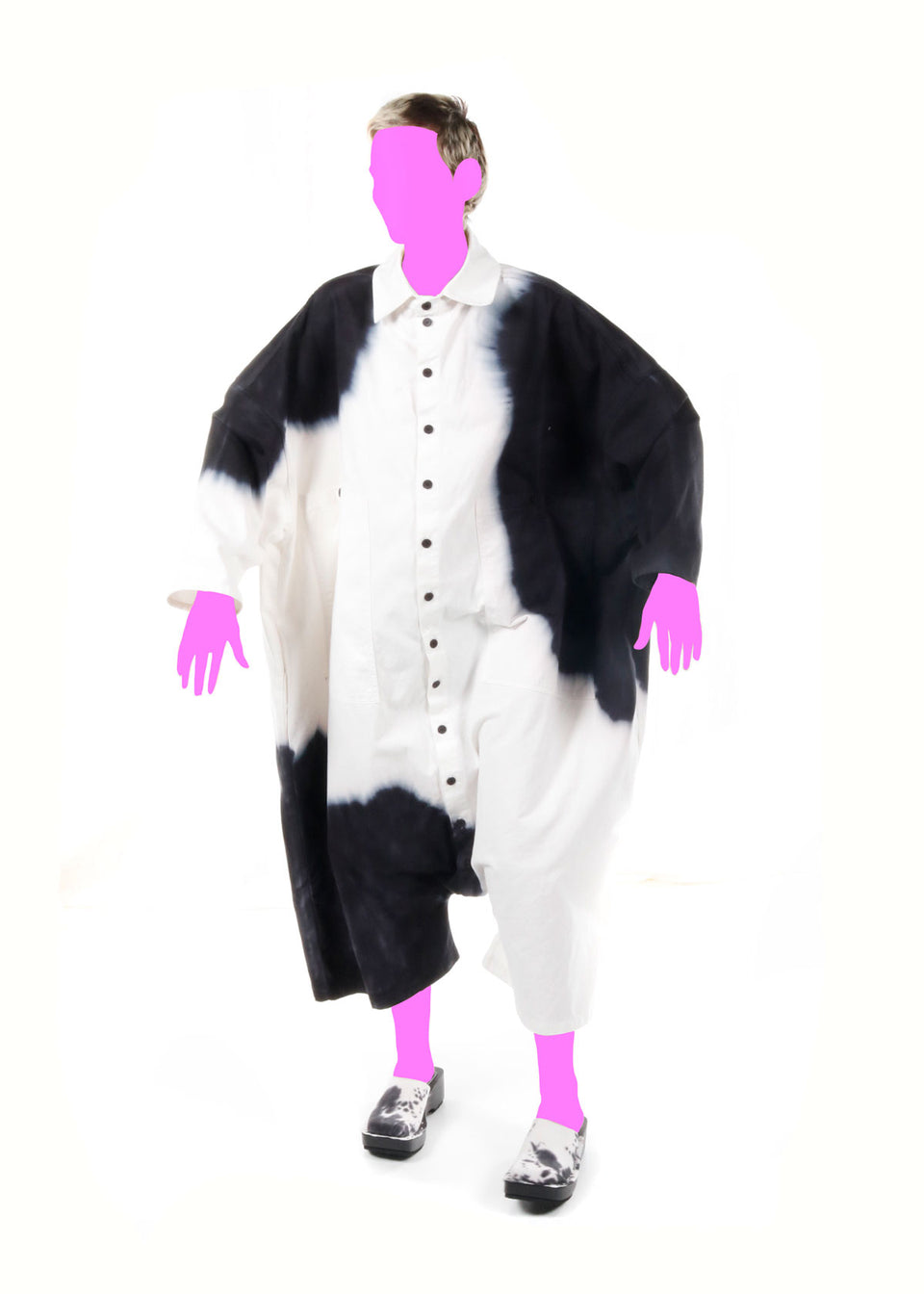 Big Button Up One Piece Cow