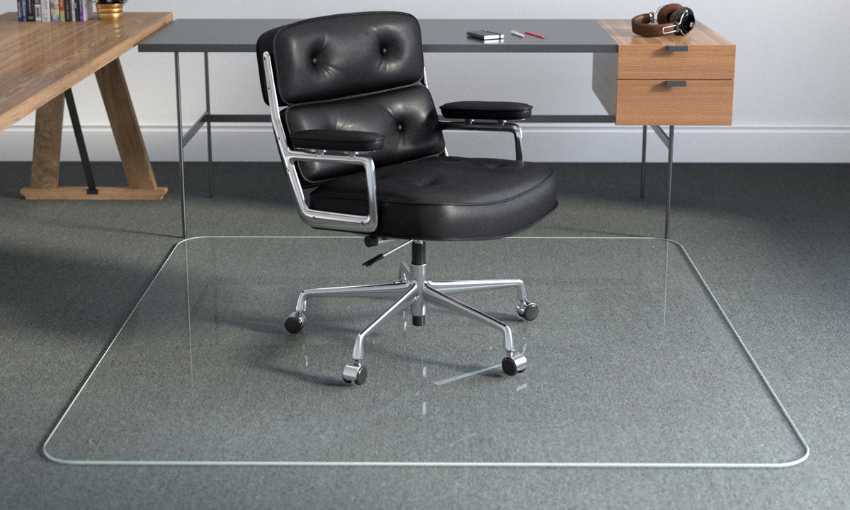Picture of: Glass Office Chair Mats Best Premium Floor Mat Vitrazza