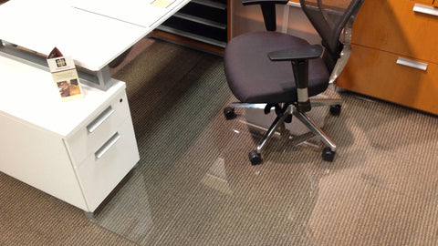 Bon ... Plastic Chair Mats In Your Office, A Vitrazza Specialist Can Provide  Concierge Level Sales And Support. We Can Assist With Size Selection, Custom  Design ...