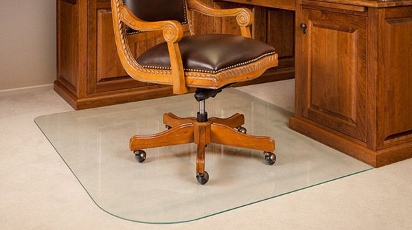 Glass Chair Mat Home Office
