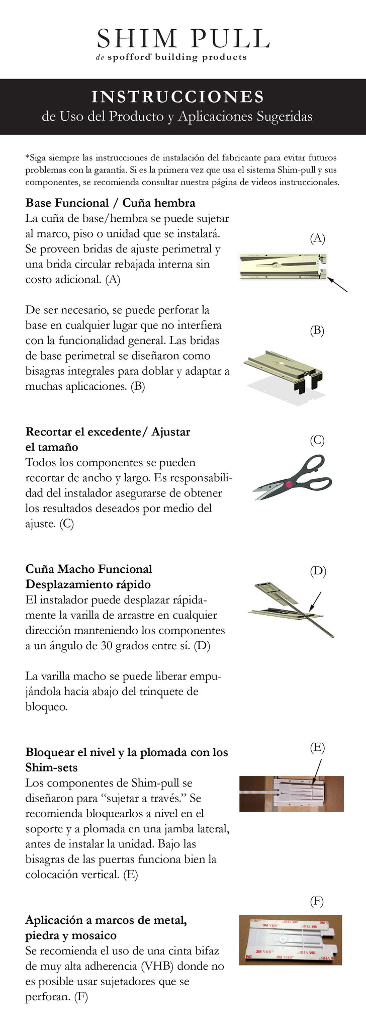 Printable Instructions Spanish – \