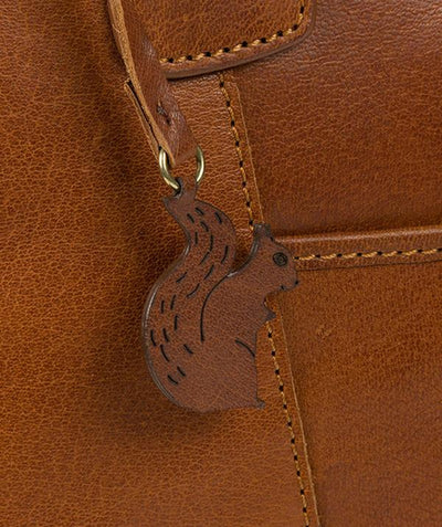 'PATIENCE' DARK TAN LEATHER TOTE BAG