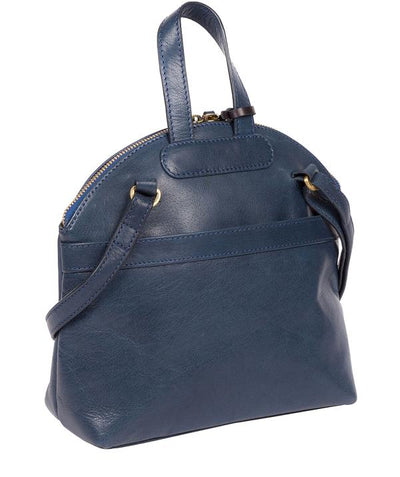 'INGRID' SNORKEL BLUE LEATHER CROSS BODY BAG