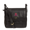 'HOUGHTON' VINTAGE BLACK LEATHER CROSS BODY BAG