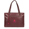 'ALICE' PLUM LEATHER HANDBAG