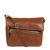 'MARINA' CONKER BROWN LEATHER SHOULDER BAG