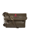 EMIN' OLIVE LEATHER CROSS BODY BAG