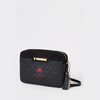 Black Mono Boxy Cross Body Bag