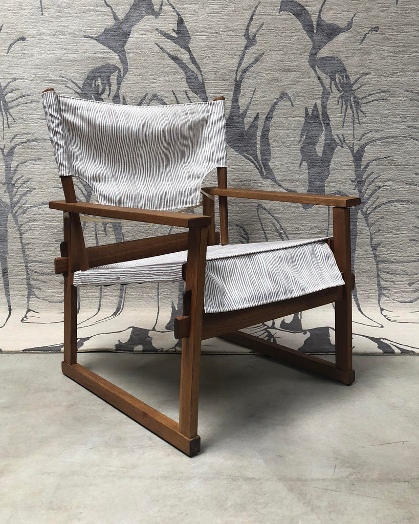 1950s Danish Modern Poul Hundevad Safari Chair