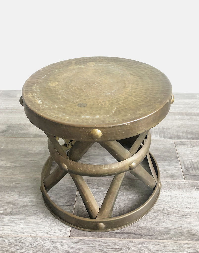 separation shoes 39c53 7c600 SABIN - 1960's Low Brass Drum Side Table
