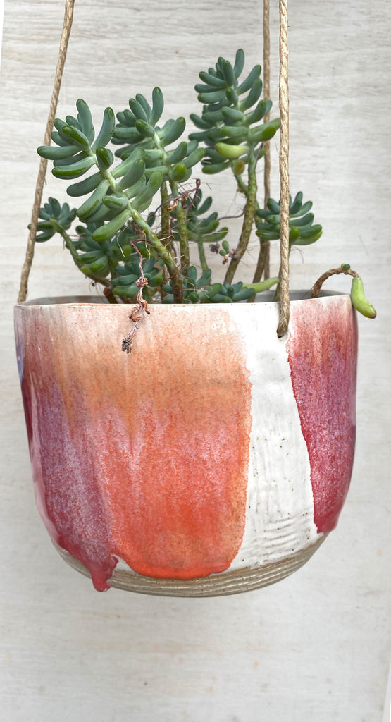 hanging planter, gift idea, gift guides, colour, glaze, pottery, handmade, Melbourne ceramics, ceramics, Australian design, handcrafted