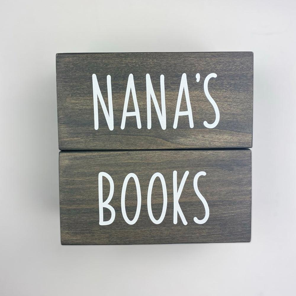 Personalized Wooden Bookend Set