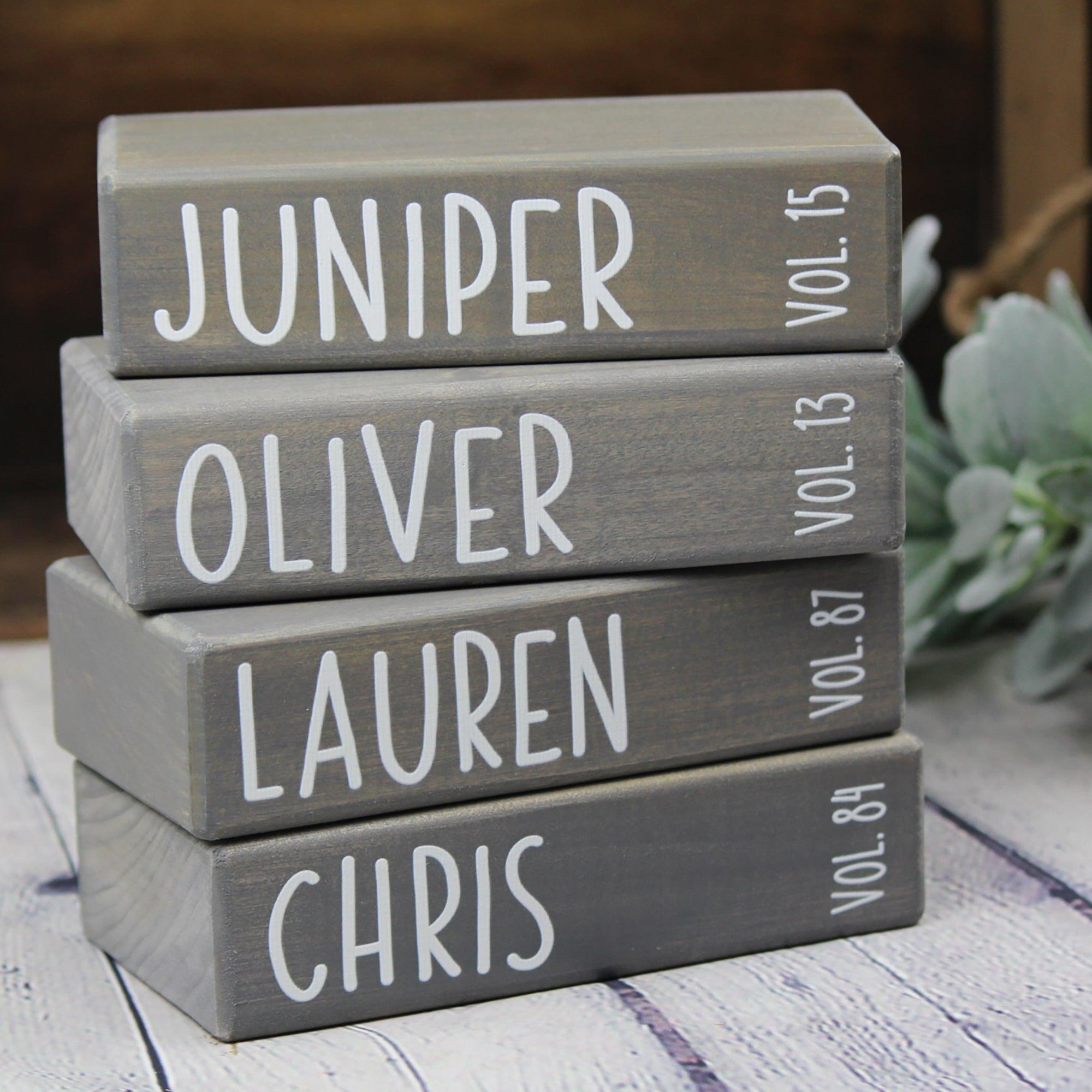 Wooden Family Name Books