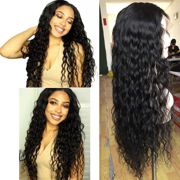 200%-300% Density 26-30 Inches Loose Curly 13x4 Lace Front Wig LTBBL-1