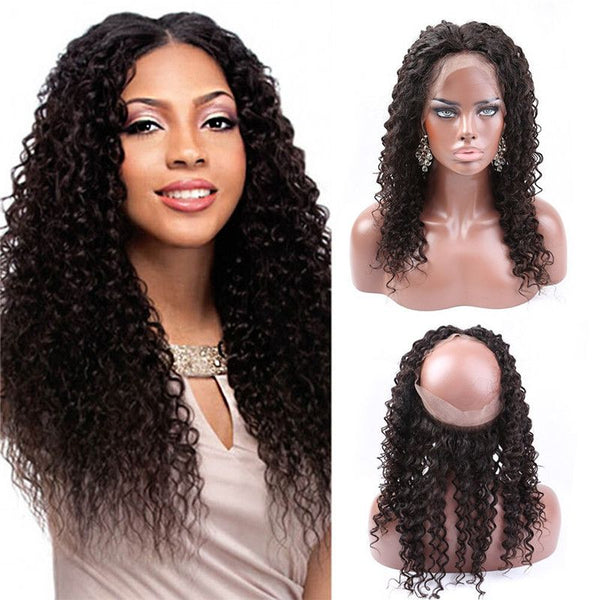 360 Lace Closure With Cap Deep Curly Human Hair