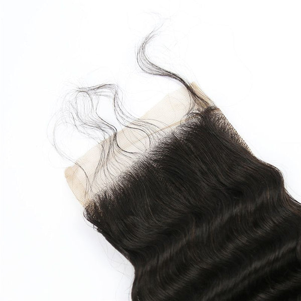 4x4 Lace Closure Deep Wave Human Hair