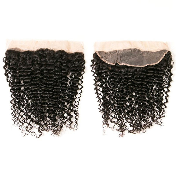 Bundles With 13x4 Lace Frontal Kinky Curly Human Hair