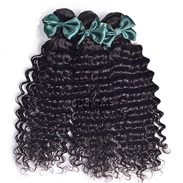 Bundles With 4x4 Lace Closure Deep Curly Human Hair