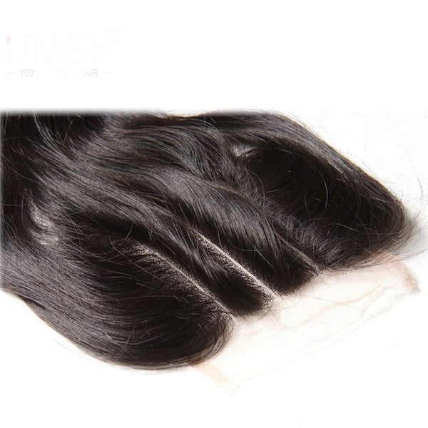 Bundles With 4x4 Lace Closure Silky Straight Human Hair