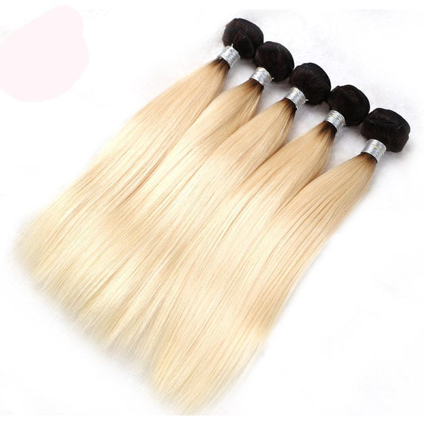 Bundles #1B/613 Silky Straight Human Hair