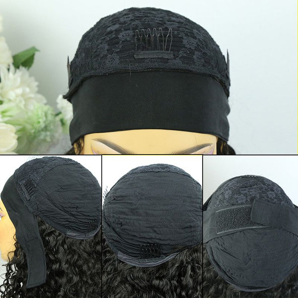 Headband Wig Deep Curly Human Hair review construction1