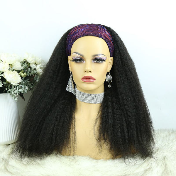 Headband Wig Kinky Straight Human Hair6