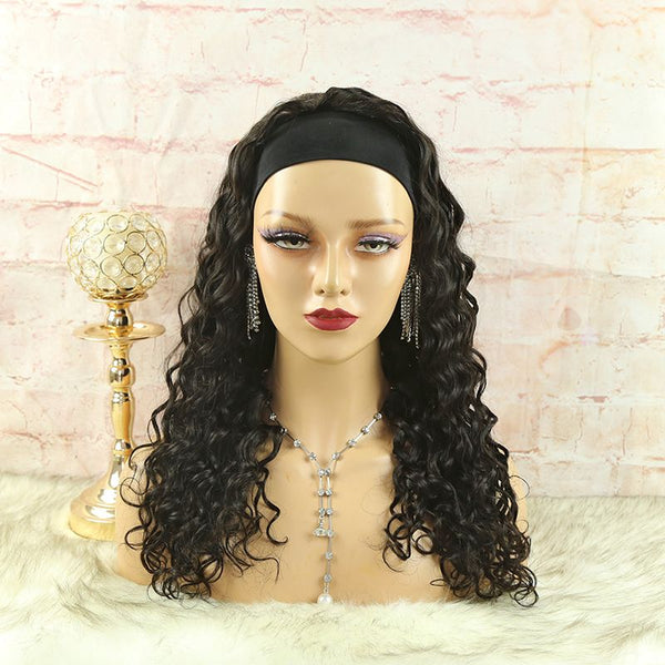 Headband Wig Loose Wave Natural Color Human Hair2
