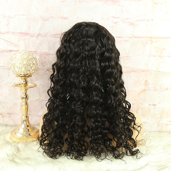 Headband Wig Loose Wave Natural Color Human Hair5