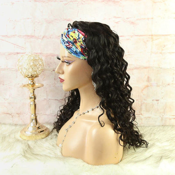 Headband Wig Loose Wave Natural Color Human Hair7
