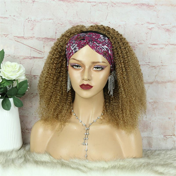 Headband Wig #27 Kinky Curly (3C-GG) Human Hair1