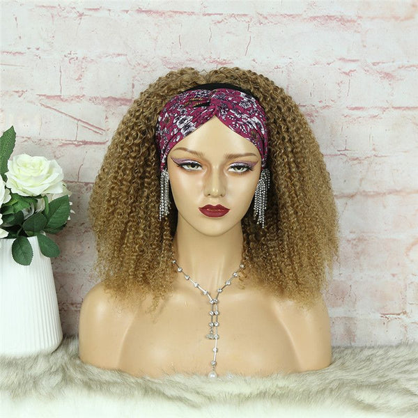 Headband Wig #27 Kinky Curly (3C-GG) Human Hair2