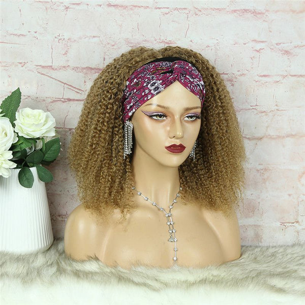 Headband Wig #27 Kinky Curly (3C-GG) Human Hair3