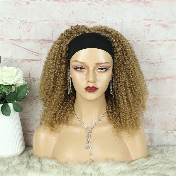 Headband Wig #27 Kinky Curly (3C-GG) Human Hair5
