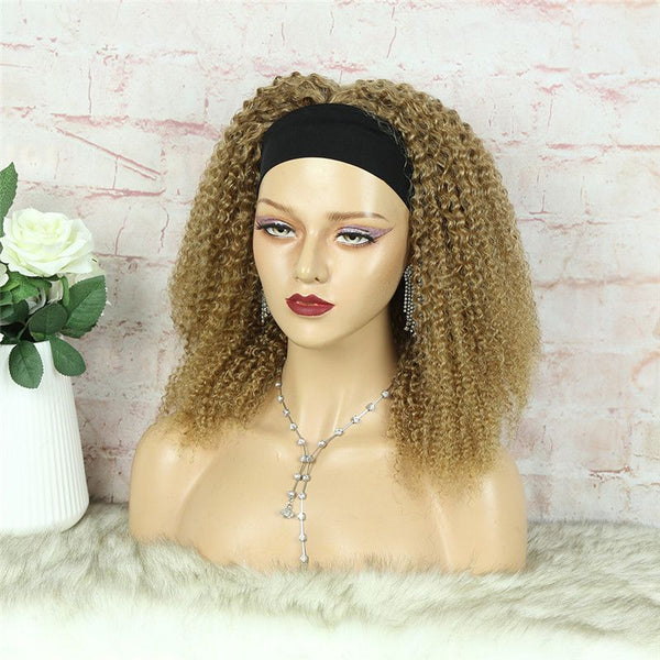 Headband Wig #27 Kinky Curly (3C-GG) Human Hair6