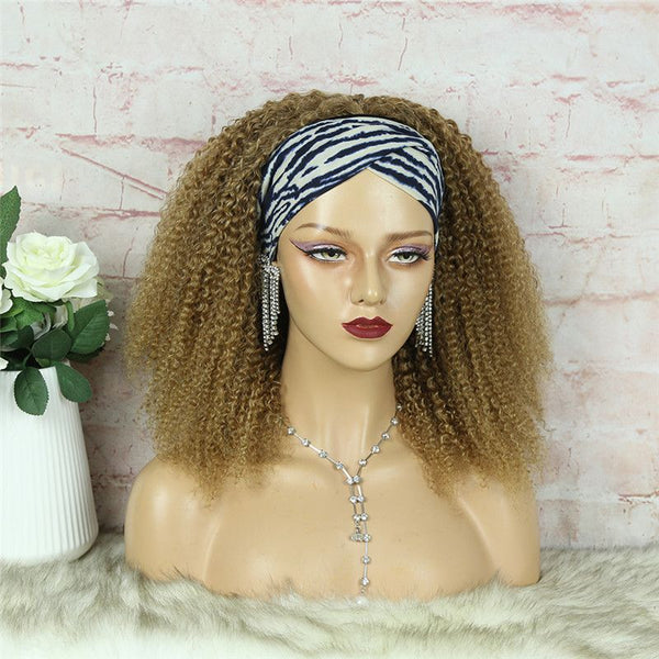 Headband Wig #27 Kinky Curly (3C-GG) Human Hair7