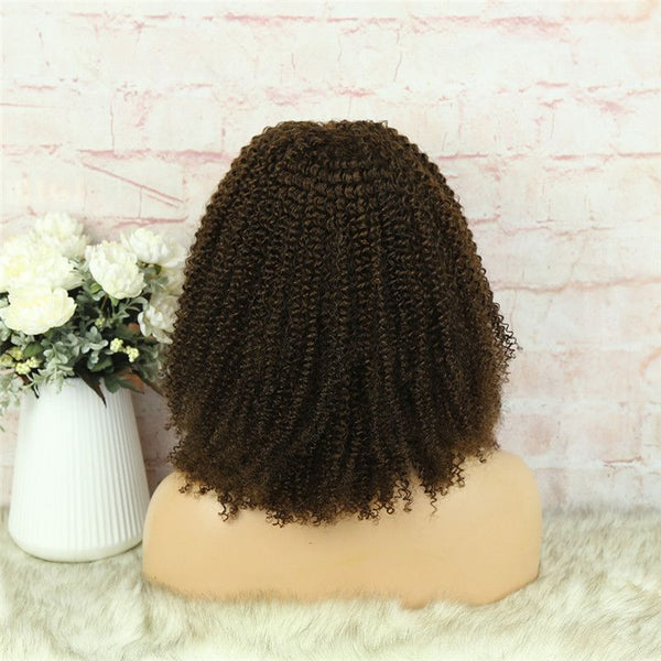 Headband Wig #4 Color 3C4A Kinky Curly Human Hair8