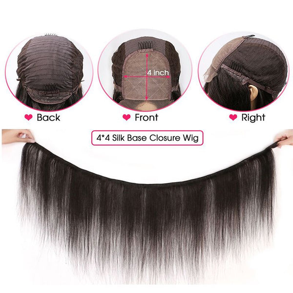 Body Wave 4x4 Lace Closure Wig Human Hair BBBD4