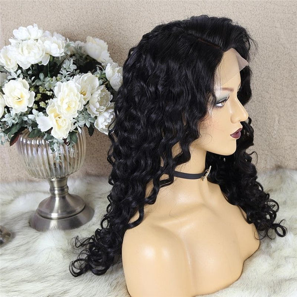 Natural Wave 4x4 Lace Closure Wig Human Hair 4