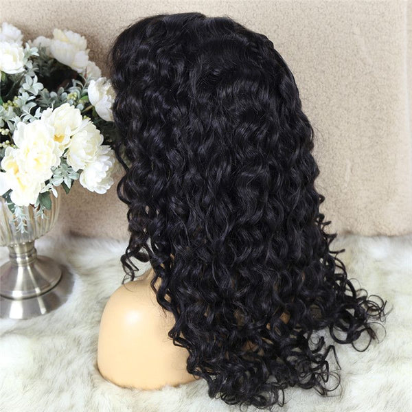 Natural Wave 4x4 Lace Closure Wig Human Hair 5