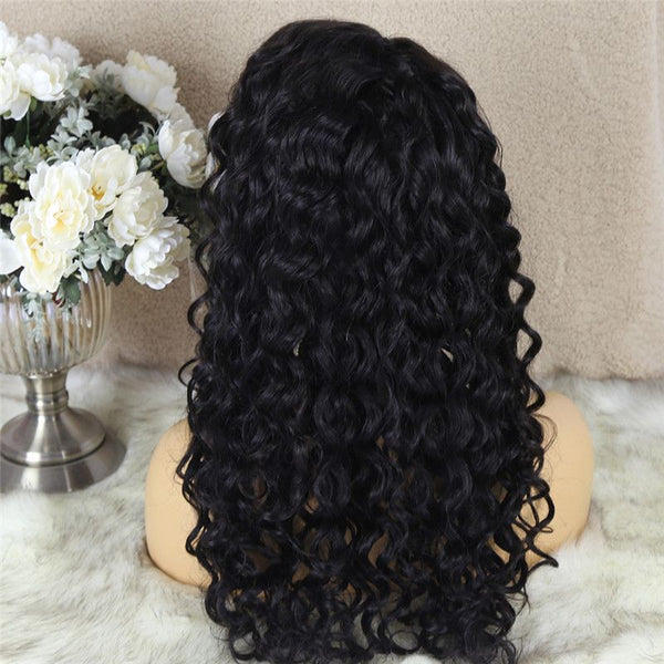 Natural Wave 4x4 Lace Closure Wig Human Hair 6