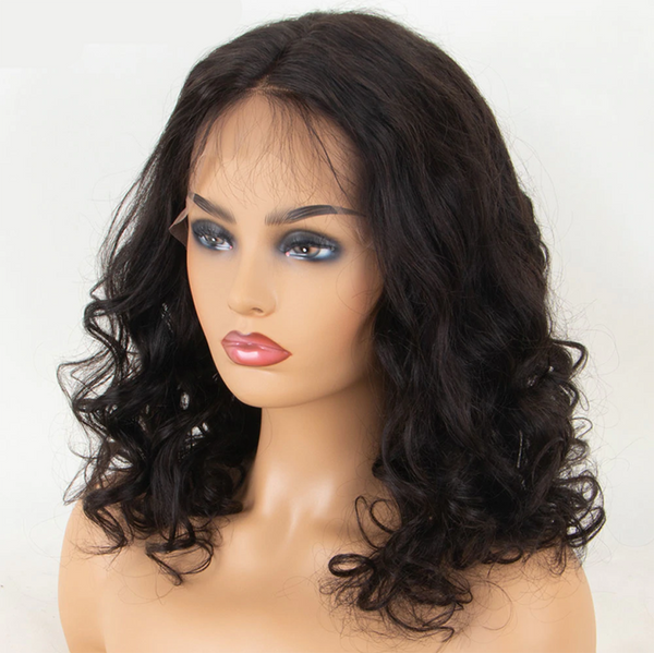 Pre Plucked BOB Body Wave 360 Lace Frontal Wig1