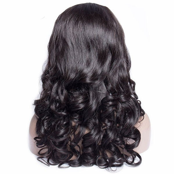 Pre Plucked Big Curl Body Wave 360 Lace Frontal Wig 4