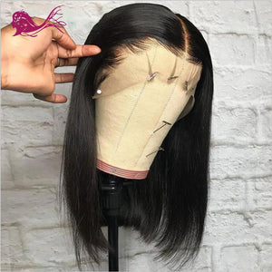 Pre Plucked Bob Silky Straight Full Lace Wig Human Hair1