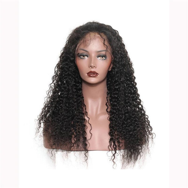 Pre Plucked Jerry Curly 360 Lace Frontal Wig3
