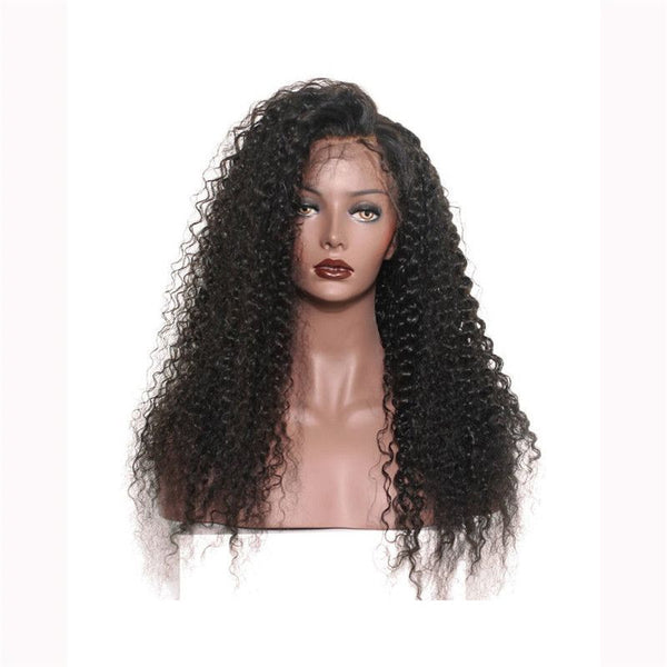 Pre Plucked Jerry Curly 360 Lace Frontal Wig4