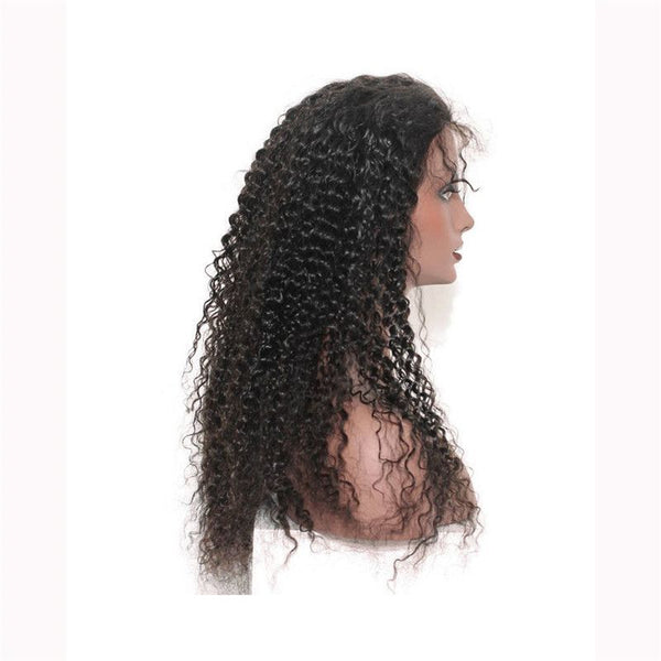 Pre Plucked Jerry Curly 360 Lace Frontal Wig5