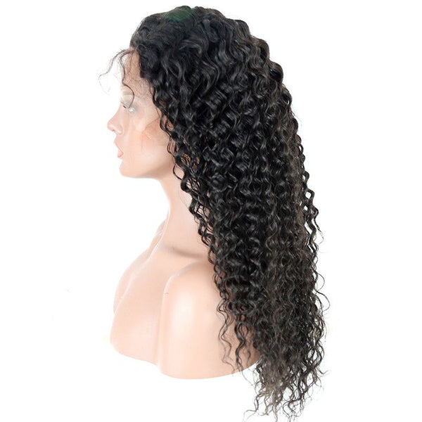 Pre Plucked Loose Curly 360 Lace Frontal Wig3